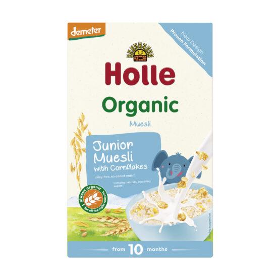 KRAJŠI ROK UPORABE: 28.06.2021 Junior večzrnata žitna kašica Cornflakes po 10. mesecu HOLLE, BIO-DEMETER 250g