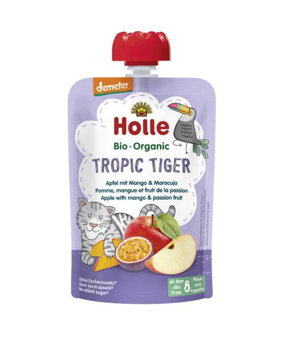 HOLLE sadni pire TIGER, jabolko, mango & marakuja, BIO (Demeter), 100g