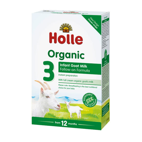 Bio napredovalno naravno kozje mleko Holle.
