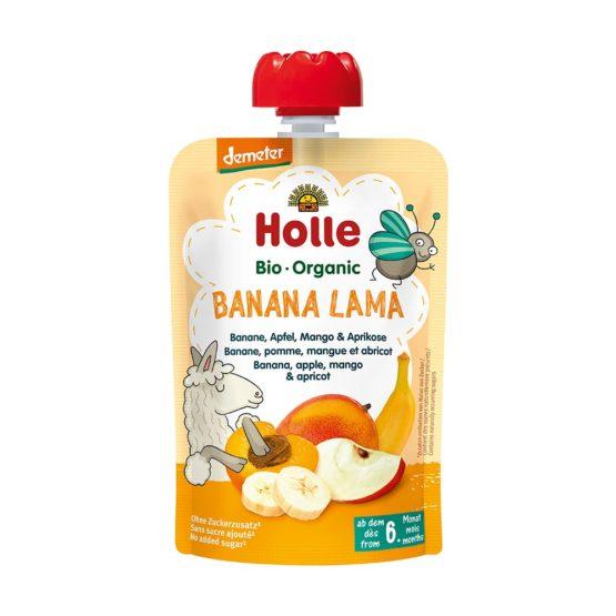 Pouchy banana LAMA, jabolko, mango & marelica, BIO