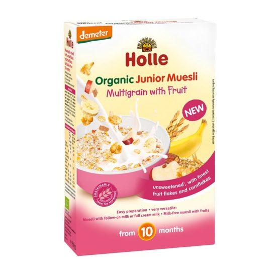 Holle bio večzrnata sadna kaša za otroke.