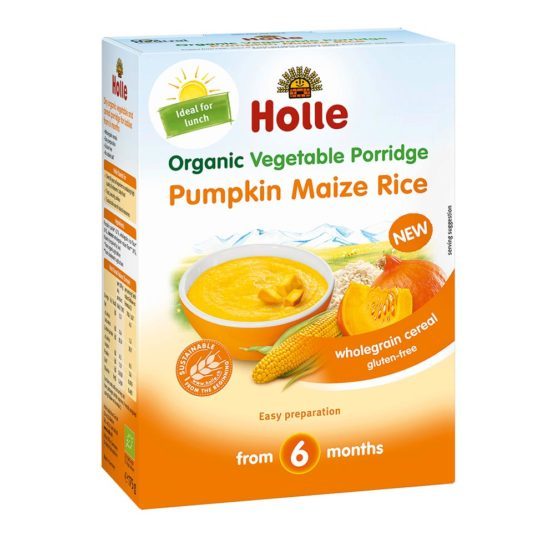 Holle bučna kaša z koruzo in rižom.
