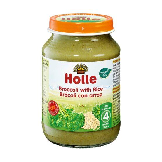 Kaša v kozarcu brokoli z rižem Holle.
