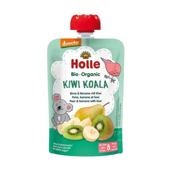 HOLLE sadni pire KOALA, hruška & banana z kivijem, BIO (Demeter), 100 g