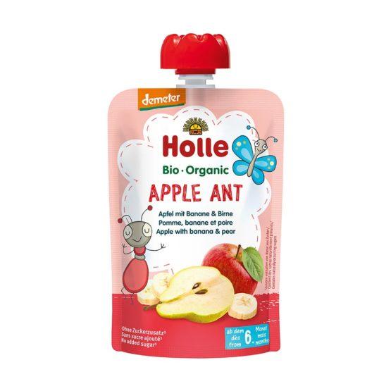 HOLLE sadni pire, MRAVLJA jabolko & banana s hruško, BIO, (Demeter)