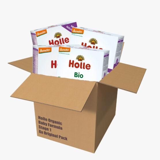 Začetno mleko Holle za dojenčke 1, BIO-DEMETER z DHA originalno pakiranje 6x